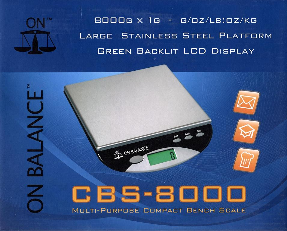 On Balance Table Top Scale 8000g x 1g