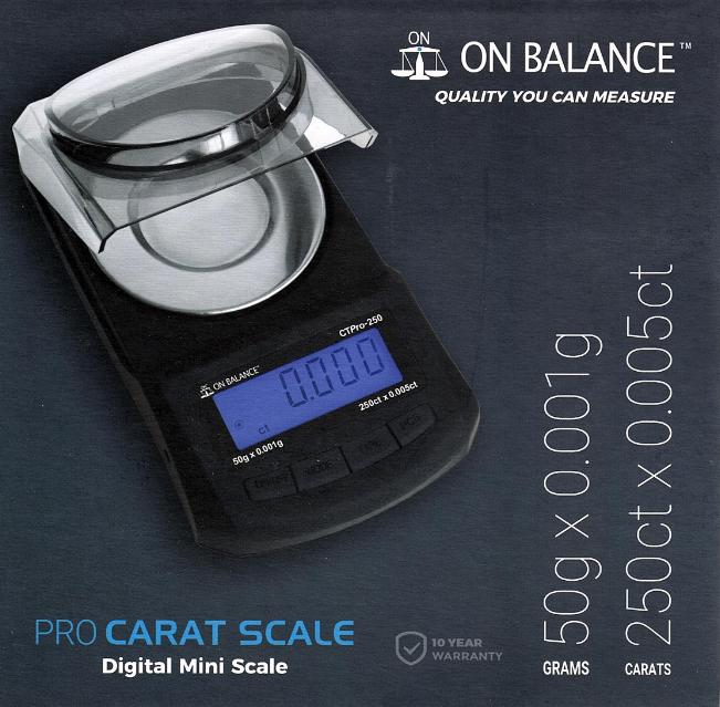 On Balance Carat Scale  Pro CTP-250 ( 50g x 0.001g )