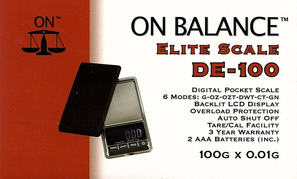 On Balance Scale DE-100  ( 100g x 0.01g )