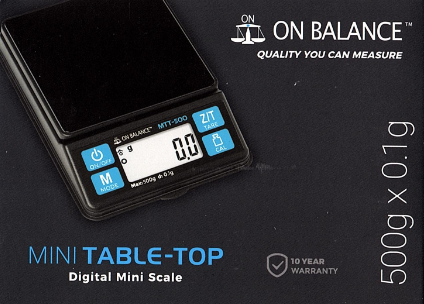 On Balance Mini Table Top Scale MTT-500  ( 500g x 0.1g )