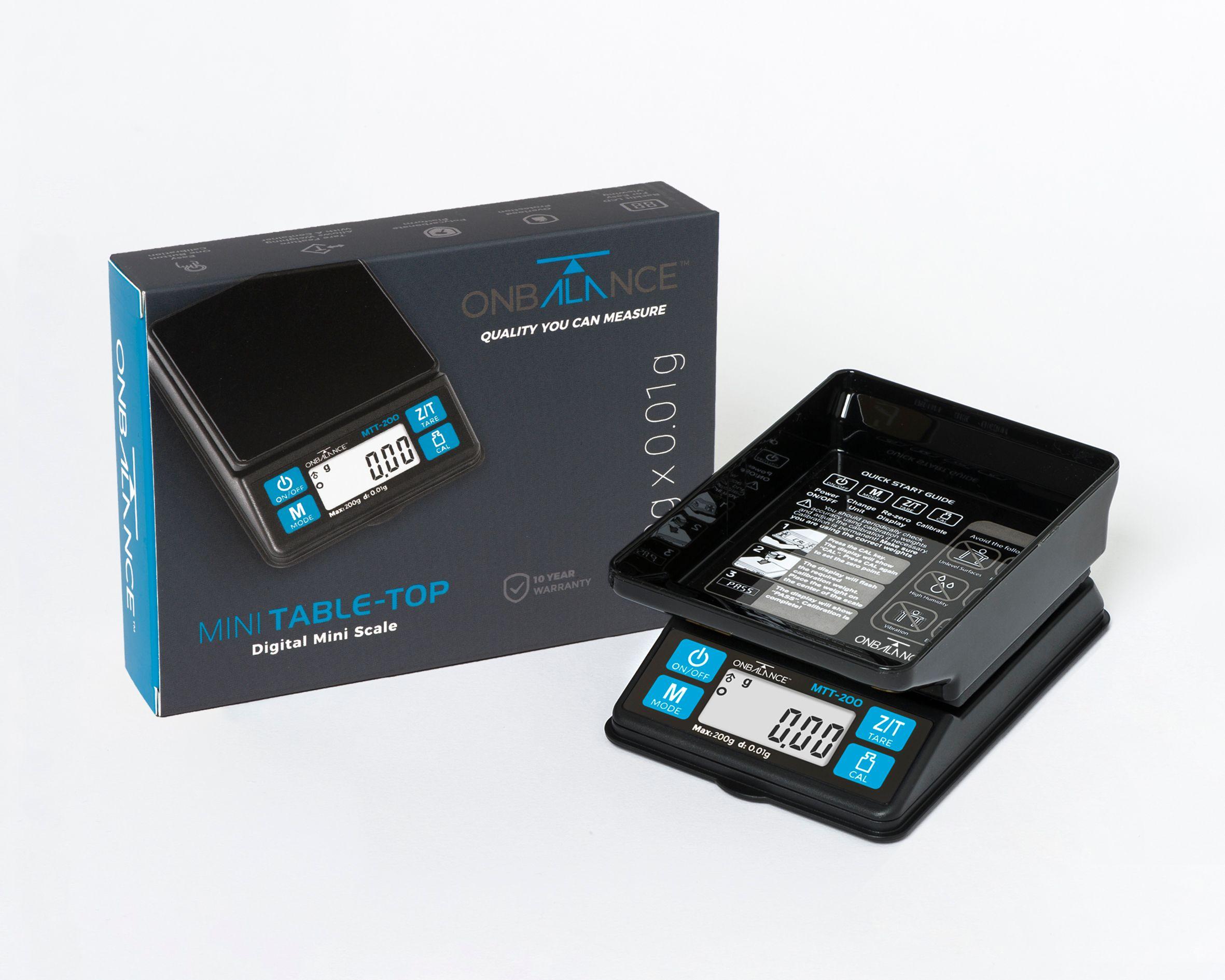 On Balance Mini Table Top Scale MTT-200  ( 200g x 0.01g )